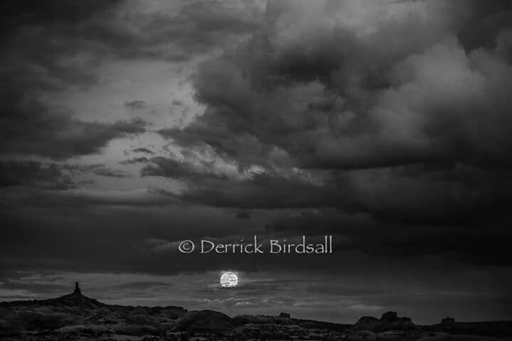 Moonrise over Moab, Utah ~ Derrick Birdsall