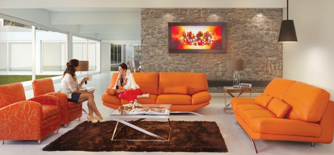 Salas en colores vivos como propuesta a la decoración del hogar