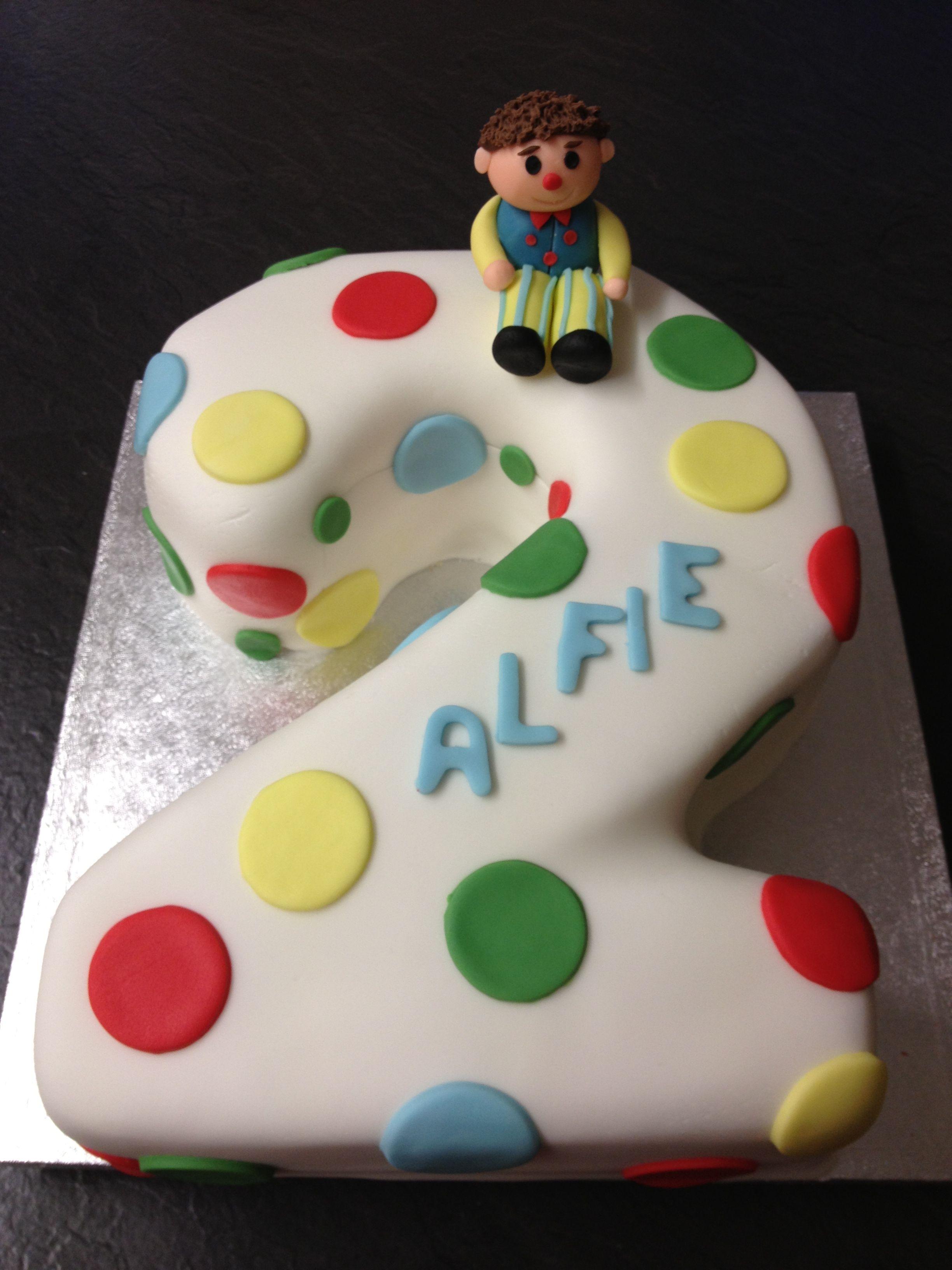 Mr Tumble Number 2 Cake With Images Birthday Cake Kids Cake
