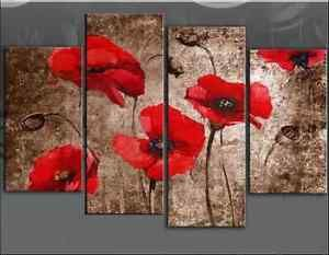 4PIECES-MODERN-ABSTRACT-HUGE-WALL-ART-OIL-PAINTING-ON-CANVAS-No-FRAME