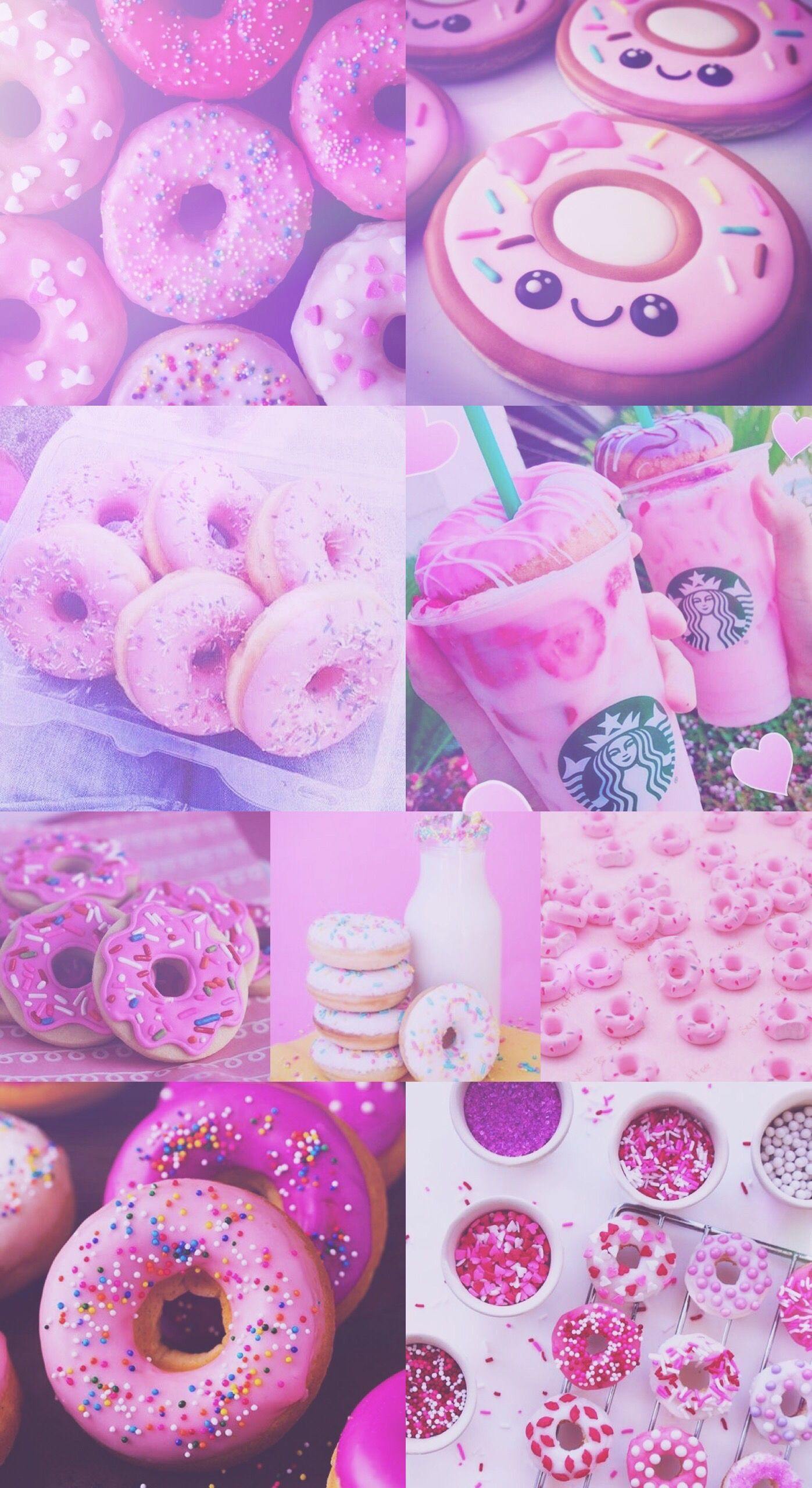 donut, donuts, pink, purple, pretty, starbucks, wallpaper, hd