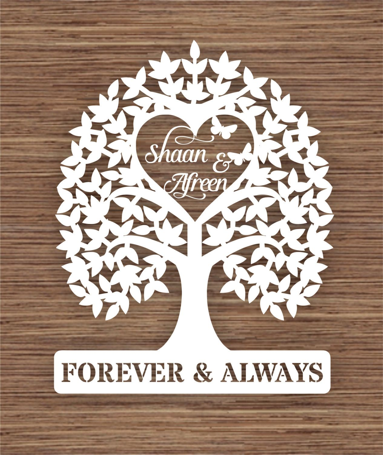 Introductory price* Personalised names Wedding Tree gift