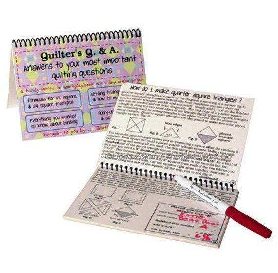 Quilter's Q & A Book, Quilter's Book, Quilter's Help Book