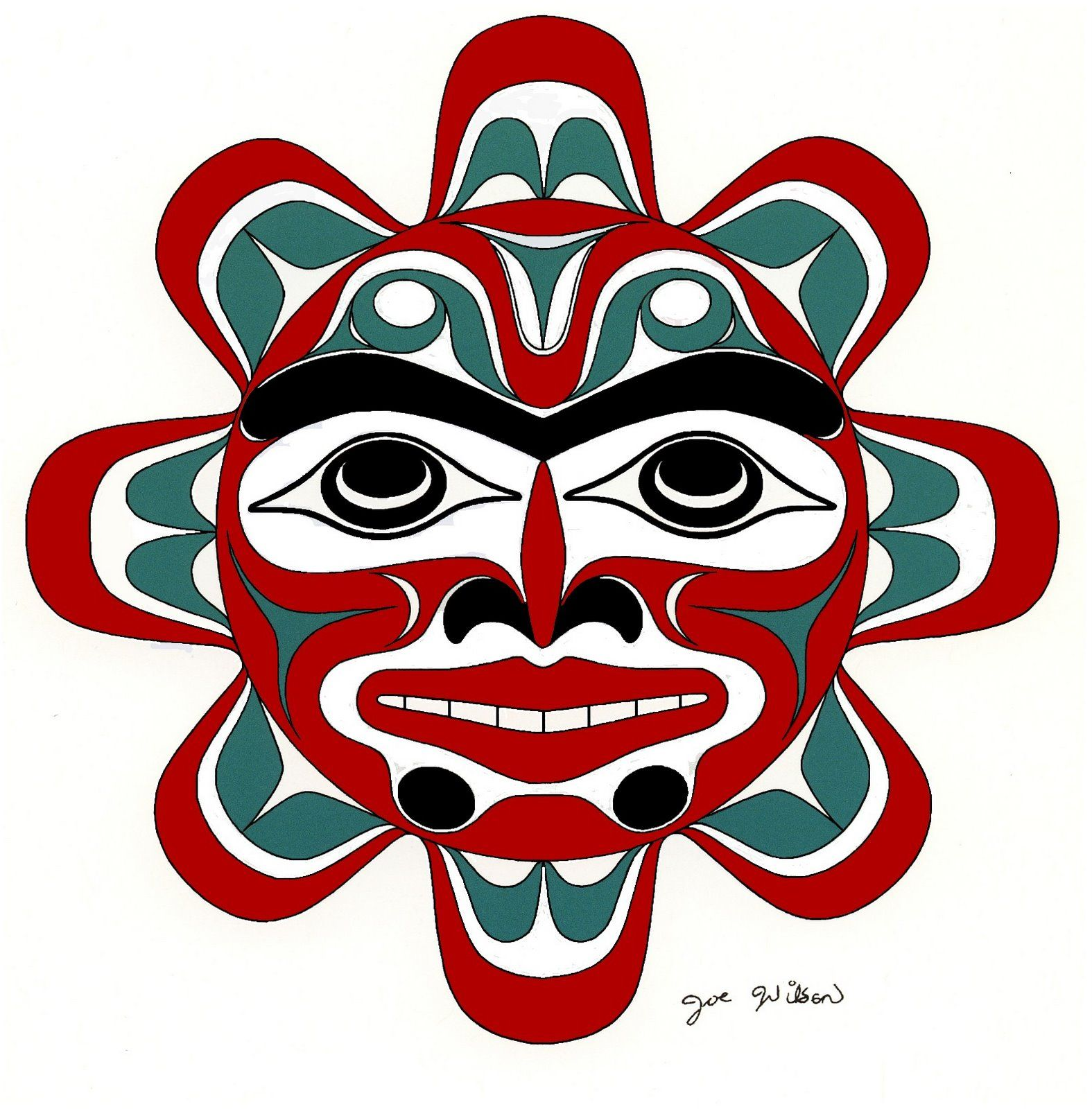 Coast Salish Art Sun By Joe Wilson