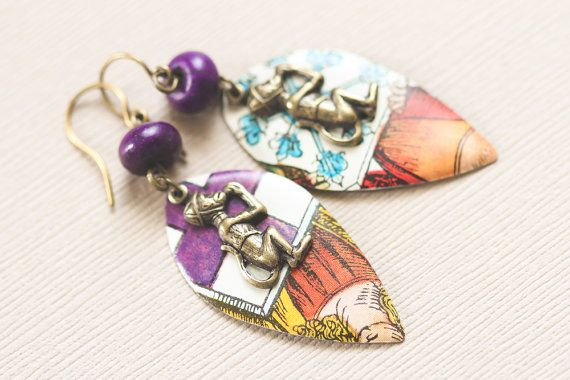 Organ Grinder Monkey Earrings Circus Monkey by MusingTreeStudios, $18.99 #etsy #handmade #jewelry