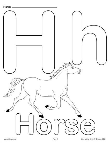 Letter H Alphabet Coloring Pages 3 Printable Versions Alphabet Coloring Pages Letter H Worksheets Alphabet Worksheets Preschool