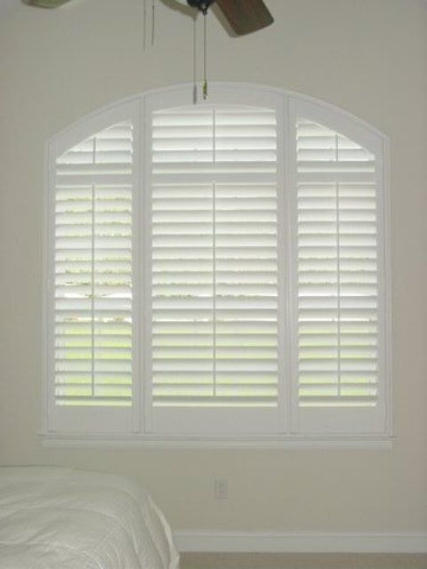 Eyebrow Arch Shutter with Horizontal Louvers  Arches and