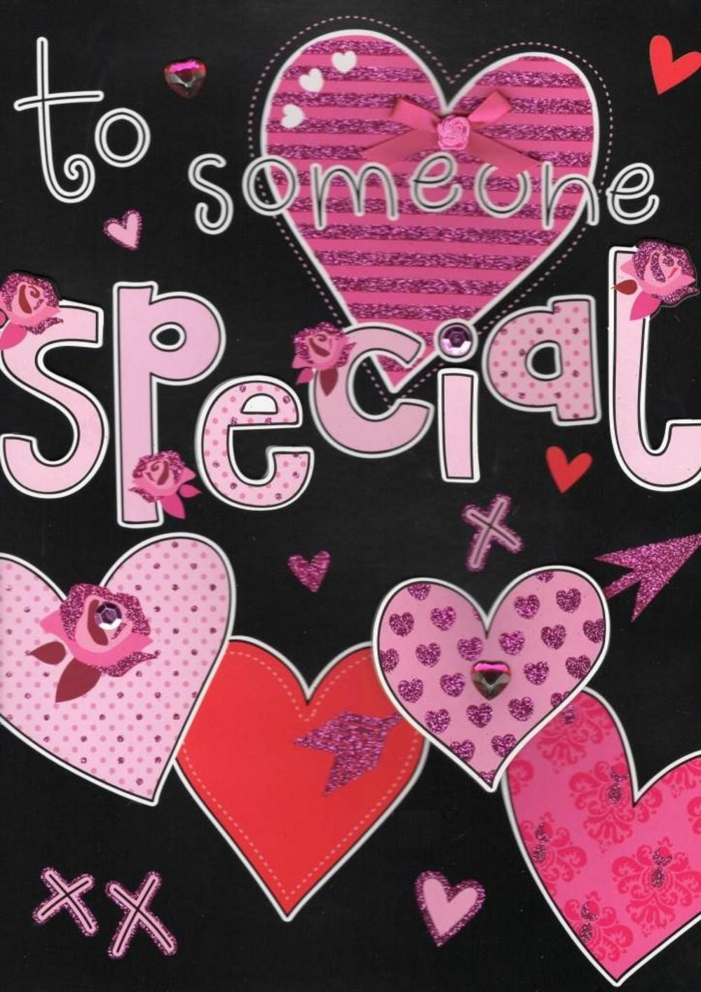 large to someone special valentines day card