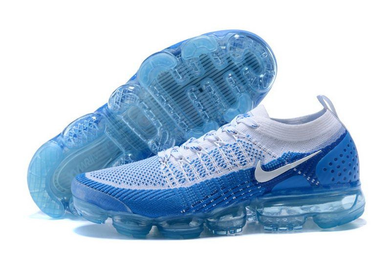 Cheap Nike Air Vapormax Flyknit 2 Men White Blue  a50209efe8