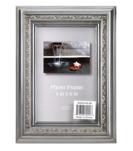 Floral Metallic Frame 4X6 - Silver