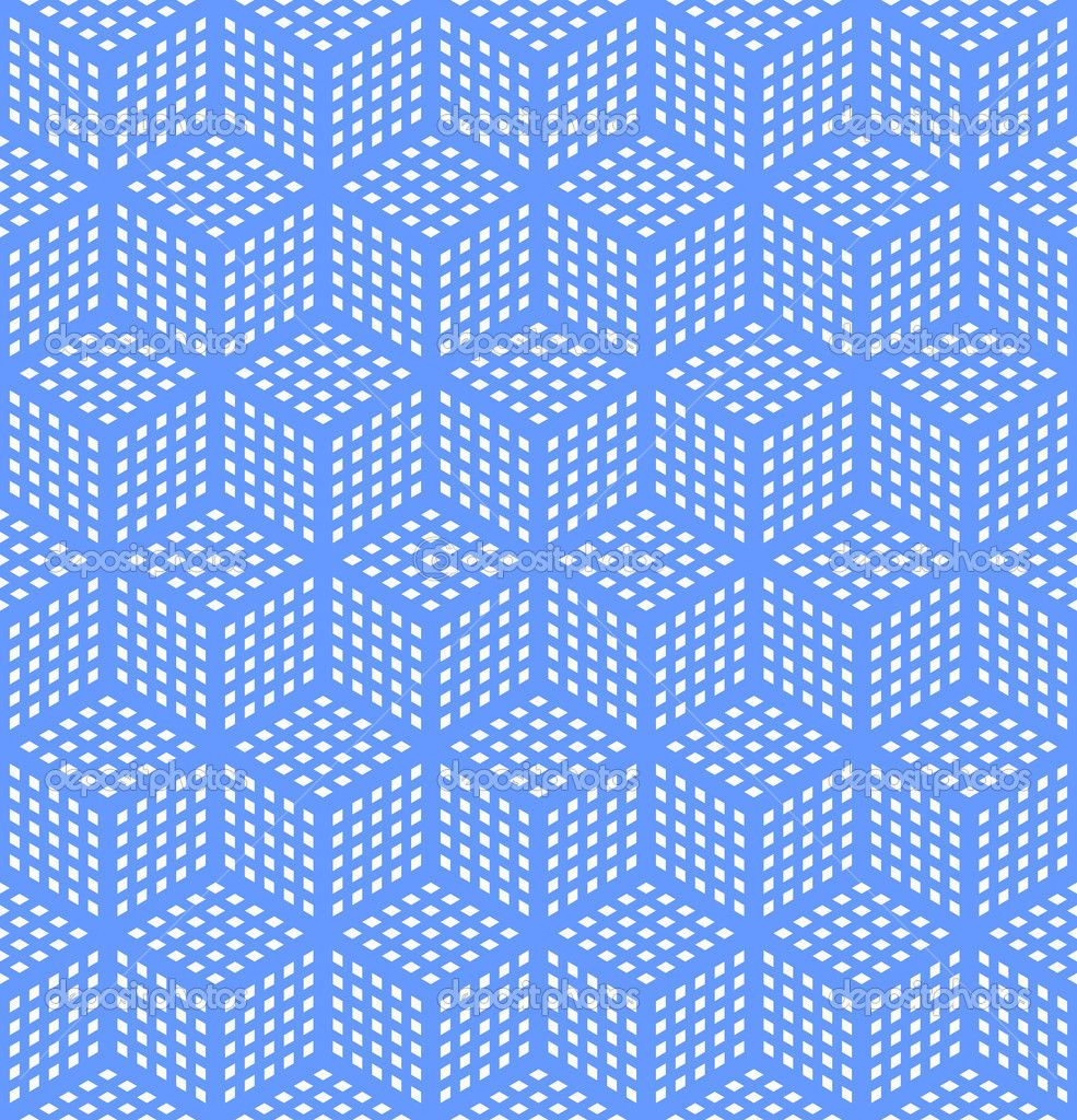 optical illusion art | Seamless geometric blue pattern  Optical