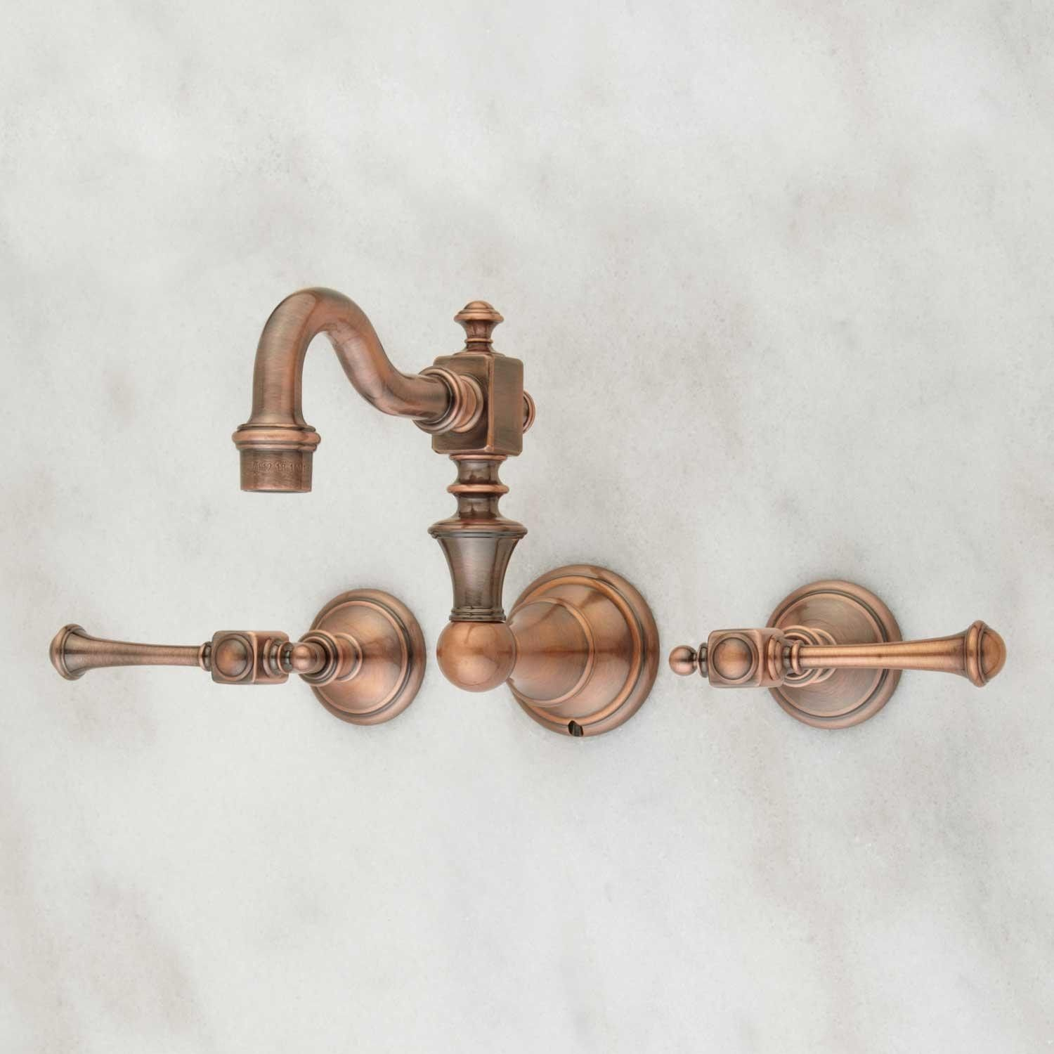Vintage Wall Mount Bathroom Faucet Lever Handles Wall Mount