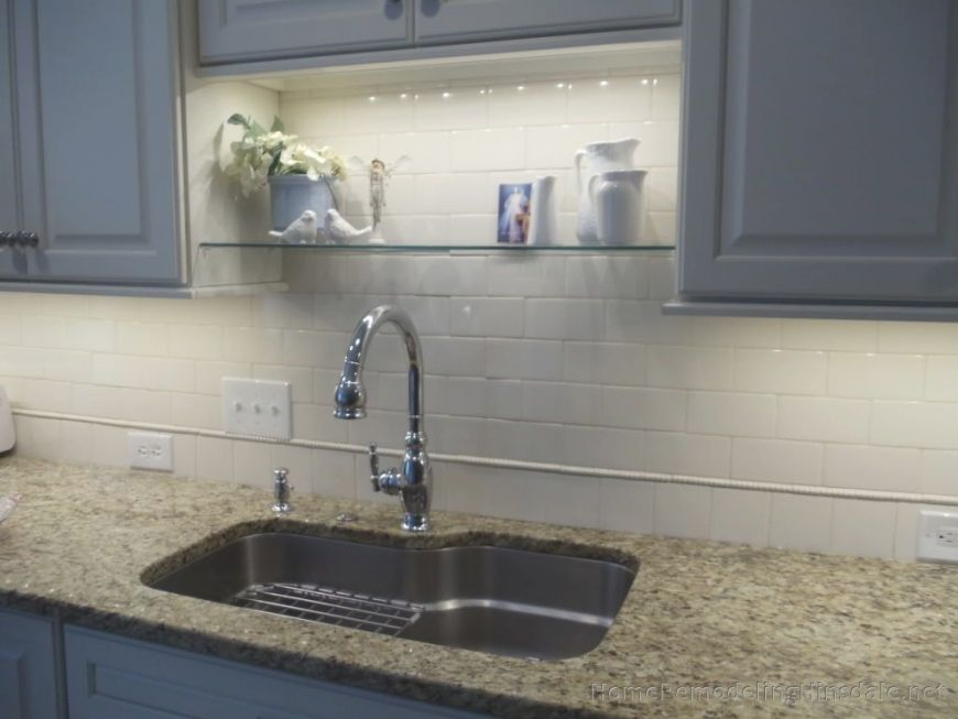 Adding A Shelf Above The Sink To Add Some Character Kitchen Sink