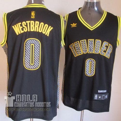 1bb1e7dd1 Camisetas Nba Baratas Electricidad Moda Swingman Westbrook  0 Negro Oklahoma  City Thunder €23.9
