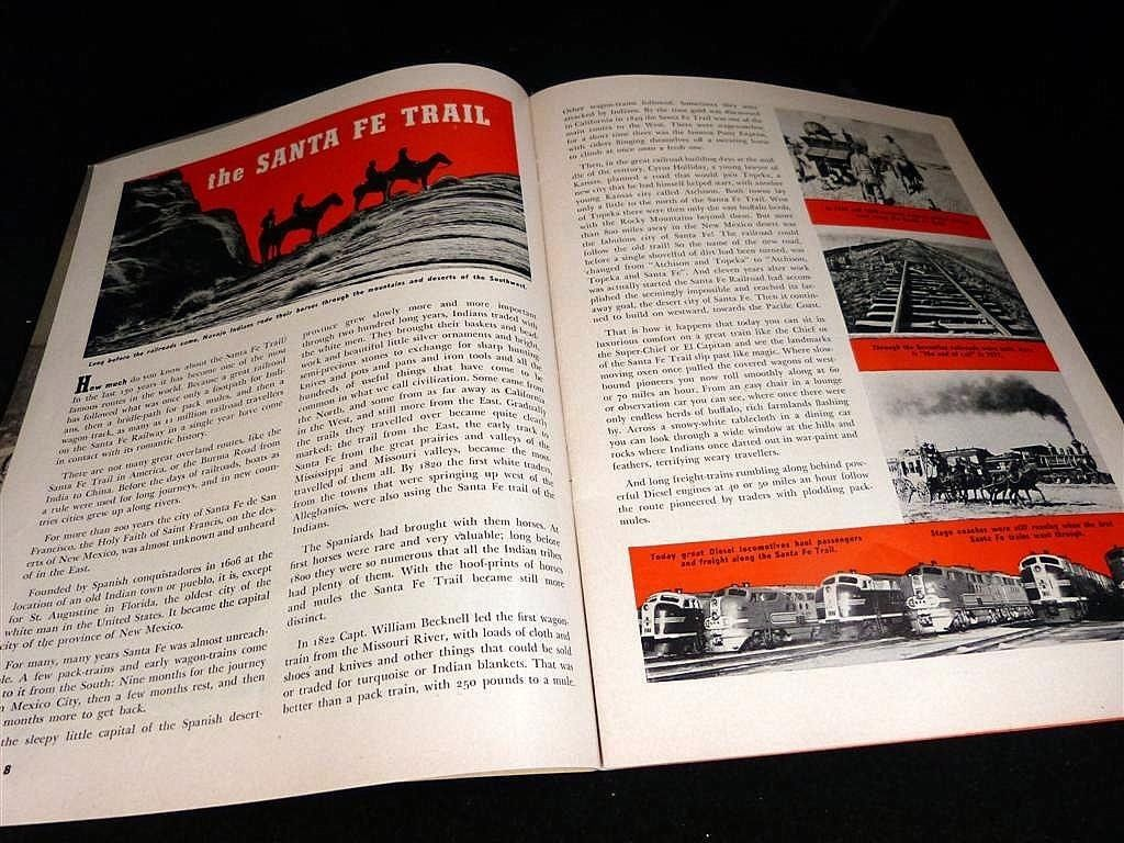 1951 The Railroad ~ Furnished Through the Courtesy of Santa Fe System Lines.