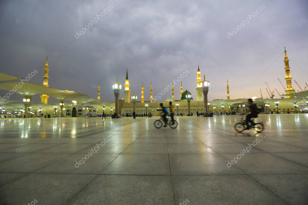 Masjid Nabawi Nabawi Mosque Mosque Prophet Medina City Lights Saudi - Sto , #Affiliate, #Mosque, #Prophet, #Masjid, #Nabawi #AD