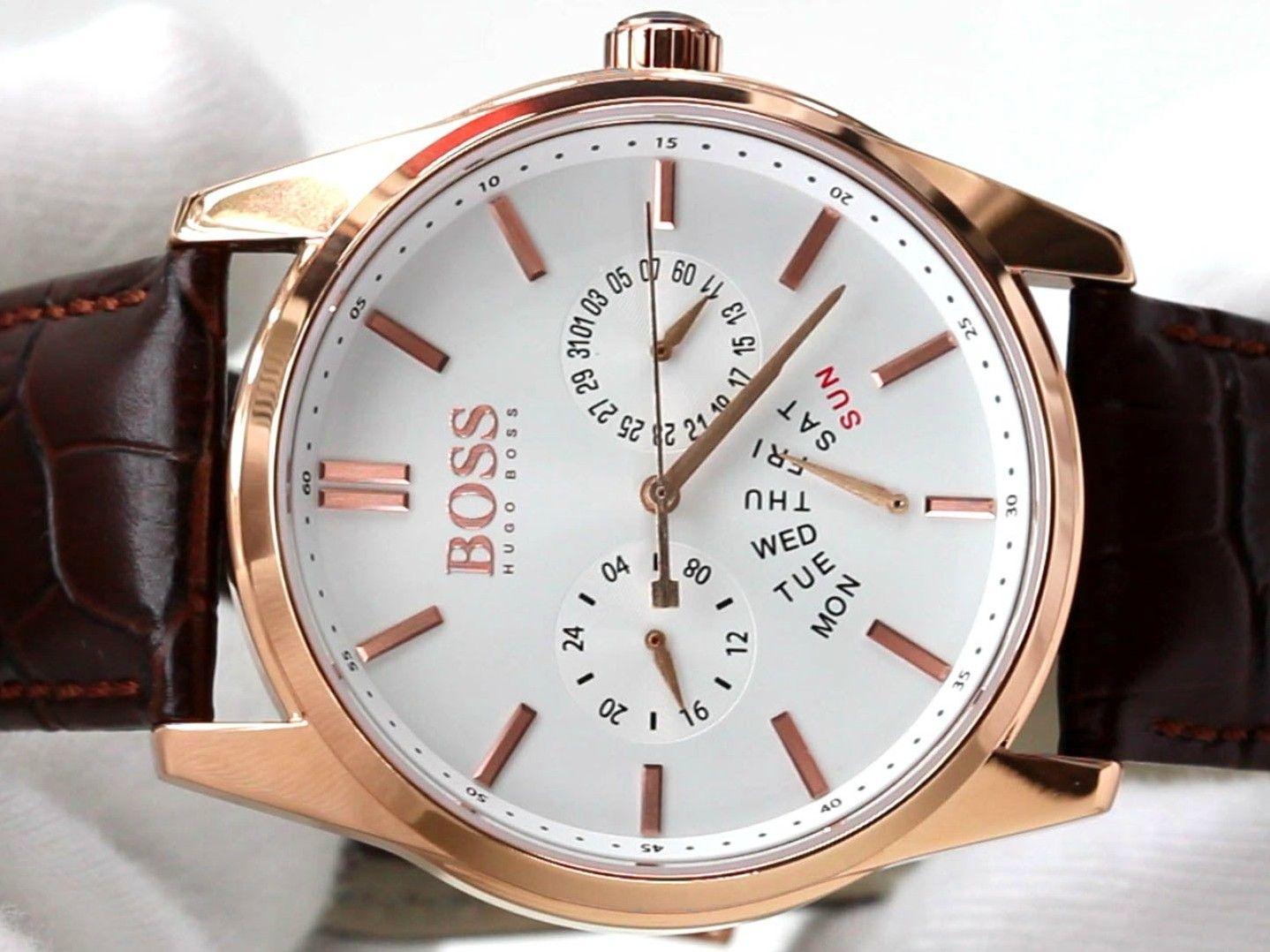Hugo Boss Rose Gold Men S Watch With Calendar Hugo Boss Men S