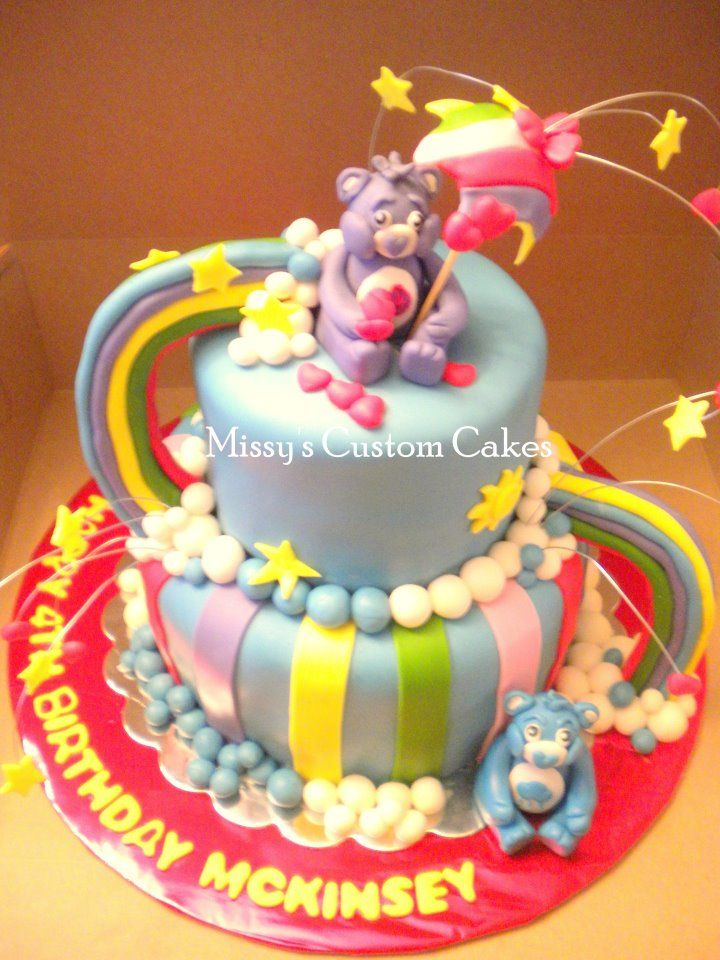 Care Bears Birthday Cake Missys Custom Cakes Pinterest Care