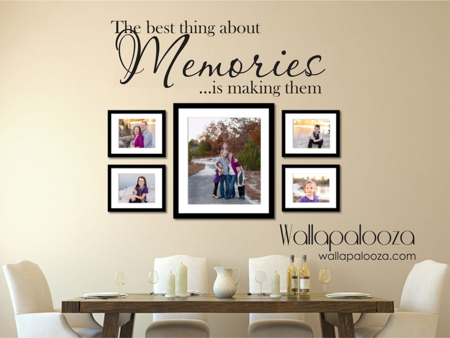 Family Wall Decal The Best Thing About Memories Wall Decal