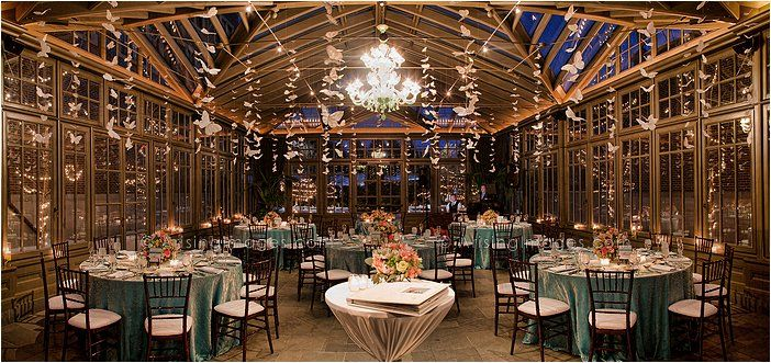 intimate wedding reception in the conservatory at the royal park
