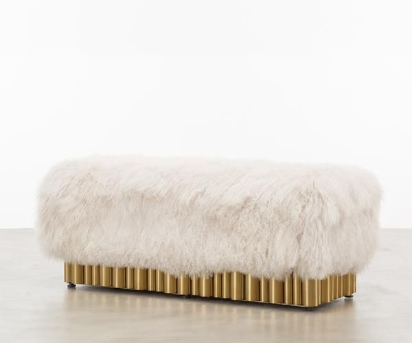 THE SHAG BENCH OUR SHAG BENCH IS ALL ABOUT OVER THE TOP MAXIMALISM WITH  TOTALLY DECADENT