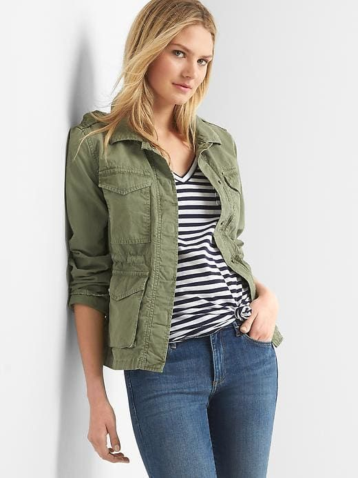 a4b583ac720a5 Gap Womens Utility Jacket Walden Green | Products in 2019 | Jackets ...