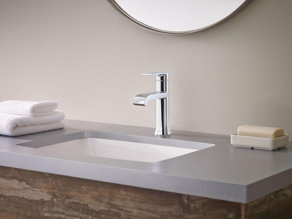genta single handle bathroom faucet in