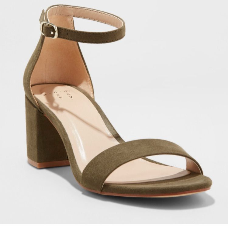 Women/'s Mid Low Block High Heels Sandals Ankle Strap Work Open Toe Summer Shoes