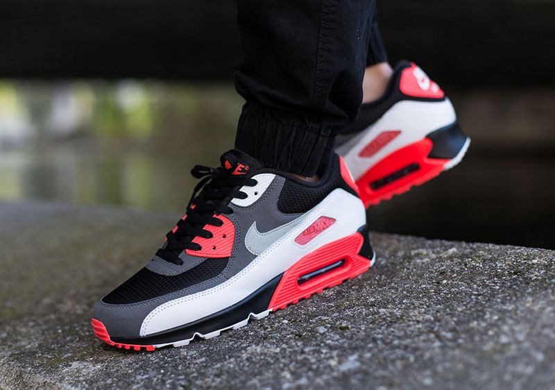 sale retailer 6ef60 5c6d2 shoes Men Nike Dusty Grey Black Red Air Max 90 Essential ...