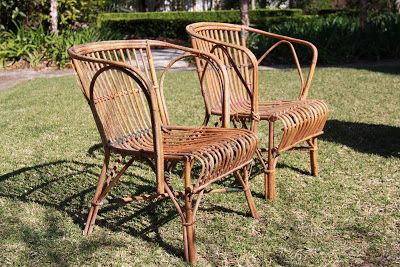 Antique Cane Chairs Real Electric Chair Execution Pics Vintage Finds Verandah Seagrass Or Split Furniture