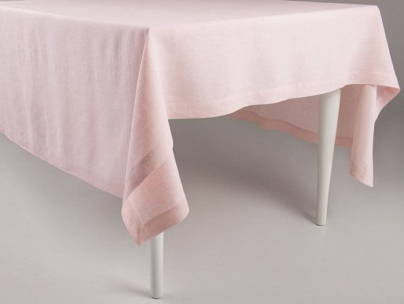 Dusty Rose Linen Tablecloth Light Pink Tablecloth Etsy Pink Tablecloth Natural Linen Tablecloth Table Cloth