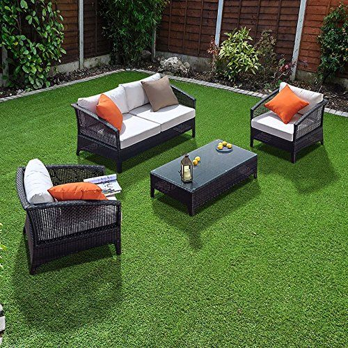 rattan furniture verano voyage sofa 4 seat black rattan patio set rh pinterest com