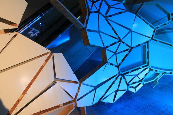 Hybrid Diamantenborse Pavilion based on mobius geometry.  Frankfurt