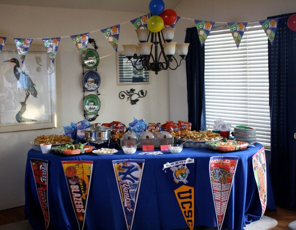 Sports Themed 1st Birthday Party Tailgating Sports Party