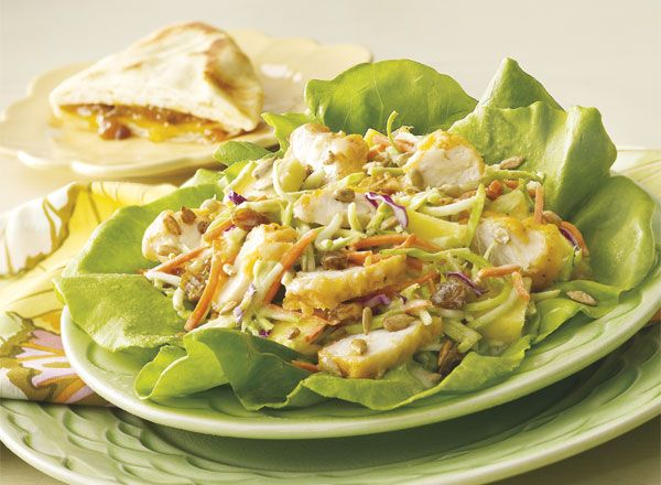Caribbean Broccoli Chicken Salad and Golden Fruit Bread Recipe from #PublixAprons