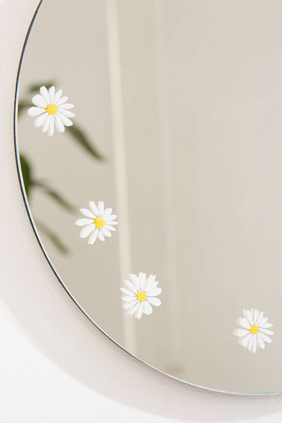 Daisy Decal Mini Round Mirror Mirror Painting Painted Mirror Art Diy Mirror