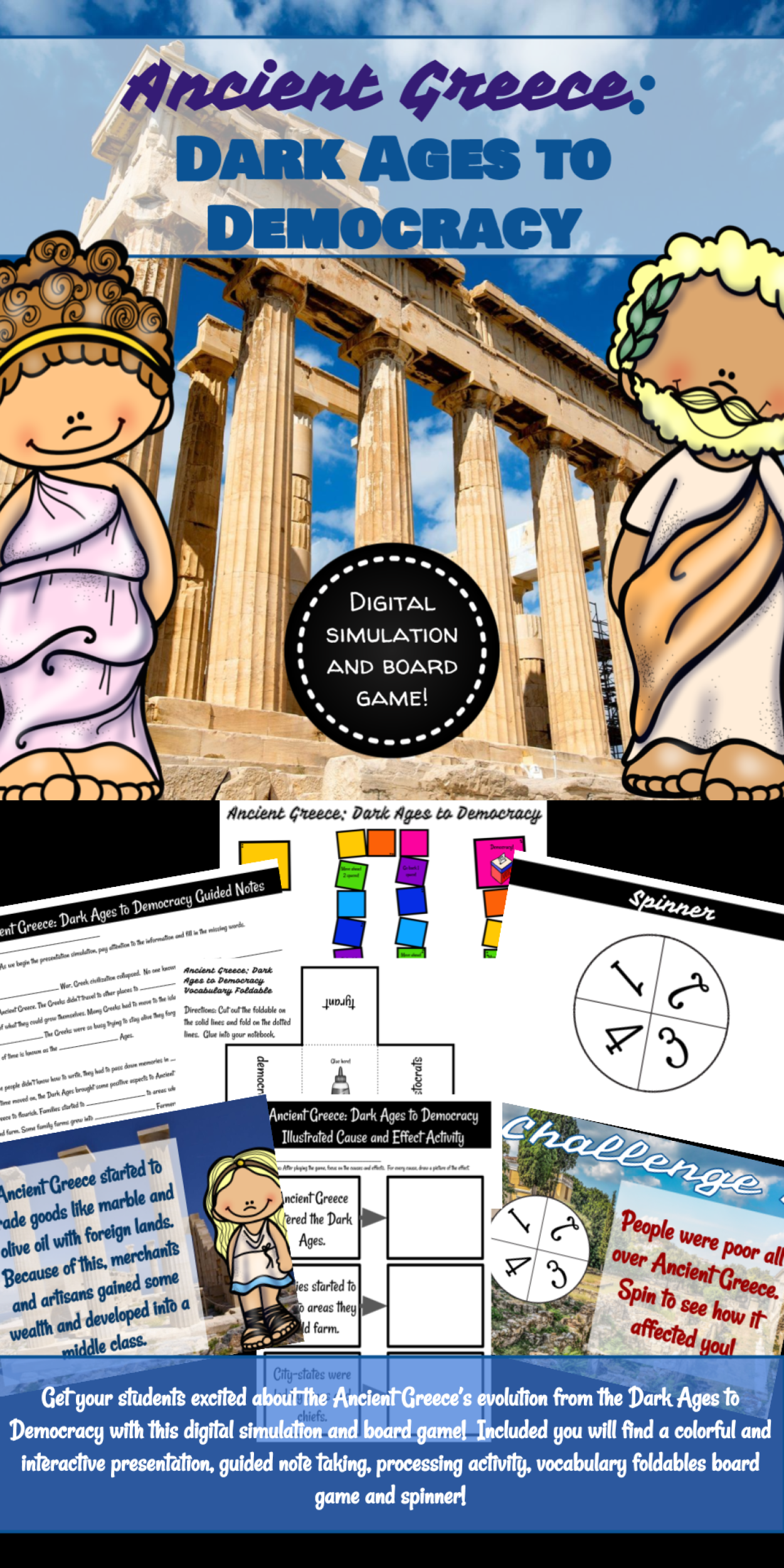 Ancient Greece Dark Ages To Democracy Digital Simulation