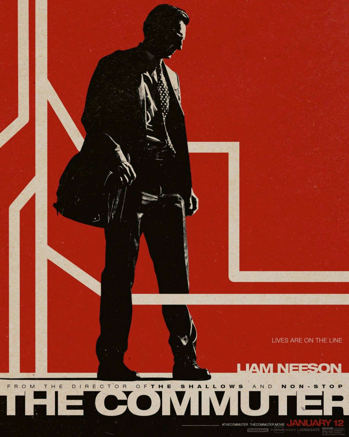 The Commuter Movie Poster Action Adventure Movie Posters Artwork Movieposters Movietwit Moviebuff Ac Movie Posters New Movie Posters Best Movie Posters