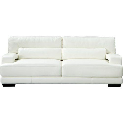 Amazon.com   Cindy Crawford Home Bellamy Off White Leather Sofa