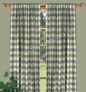 plymouth plaid curtain panel tailored