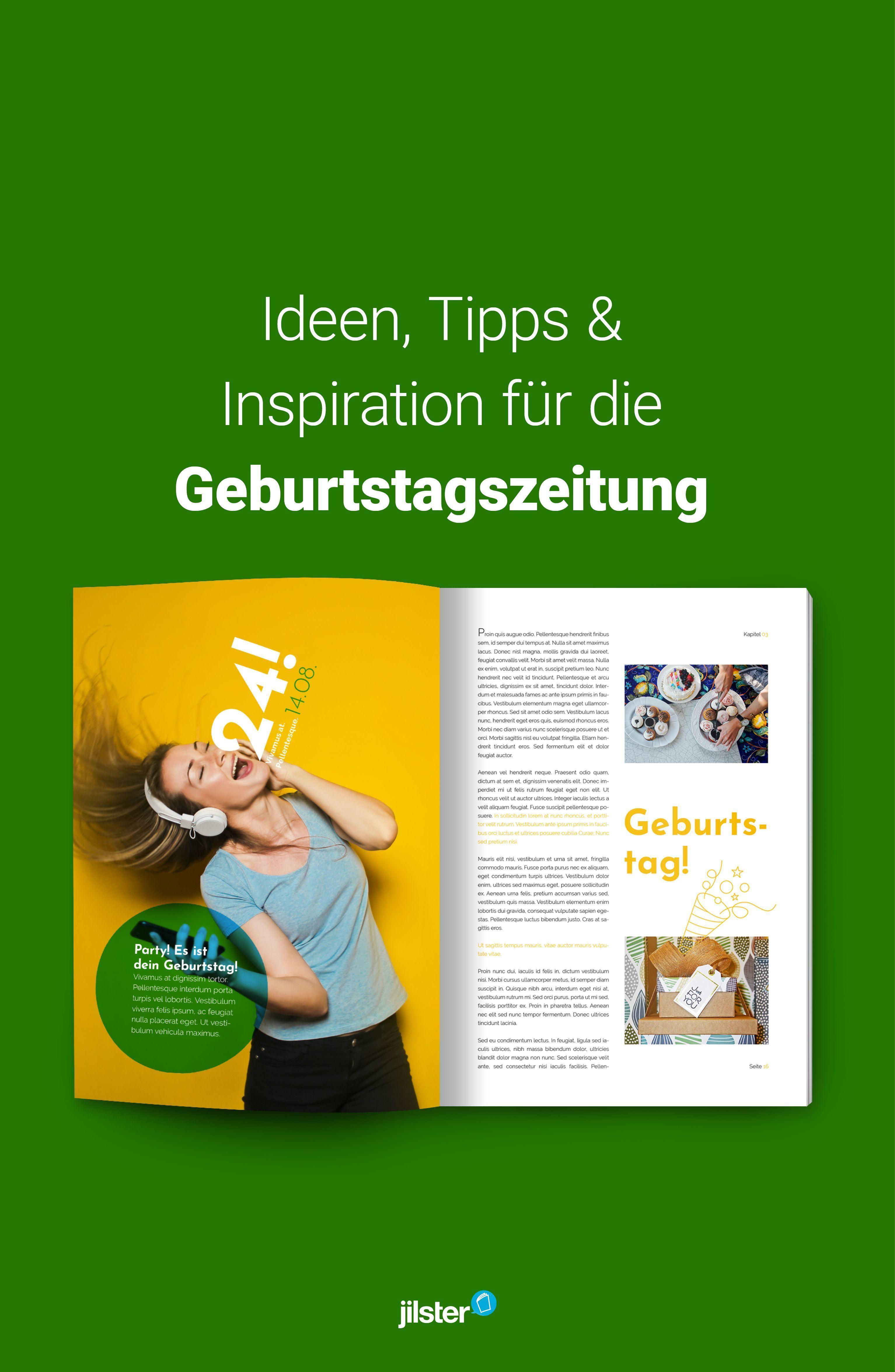 Geburtstagszeitung Ideen Vorlagen Inspiration Zeitschrift
