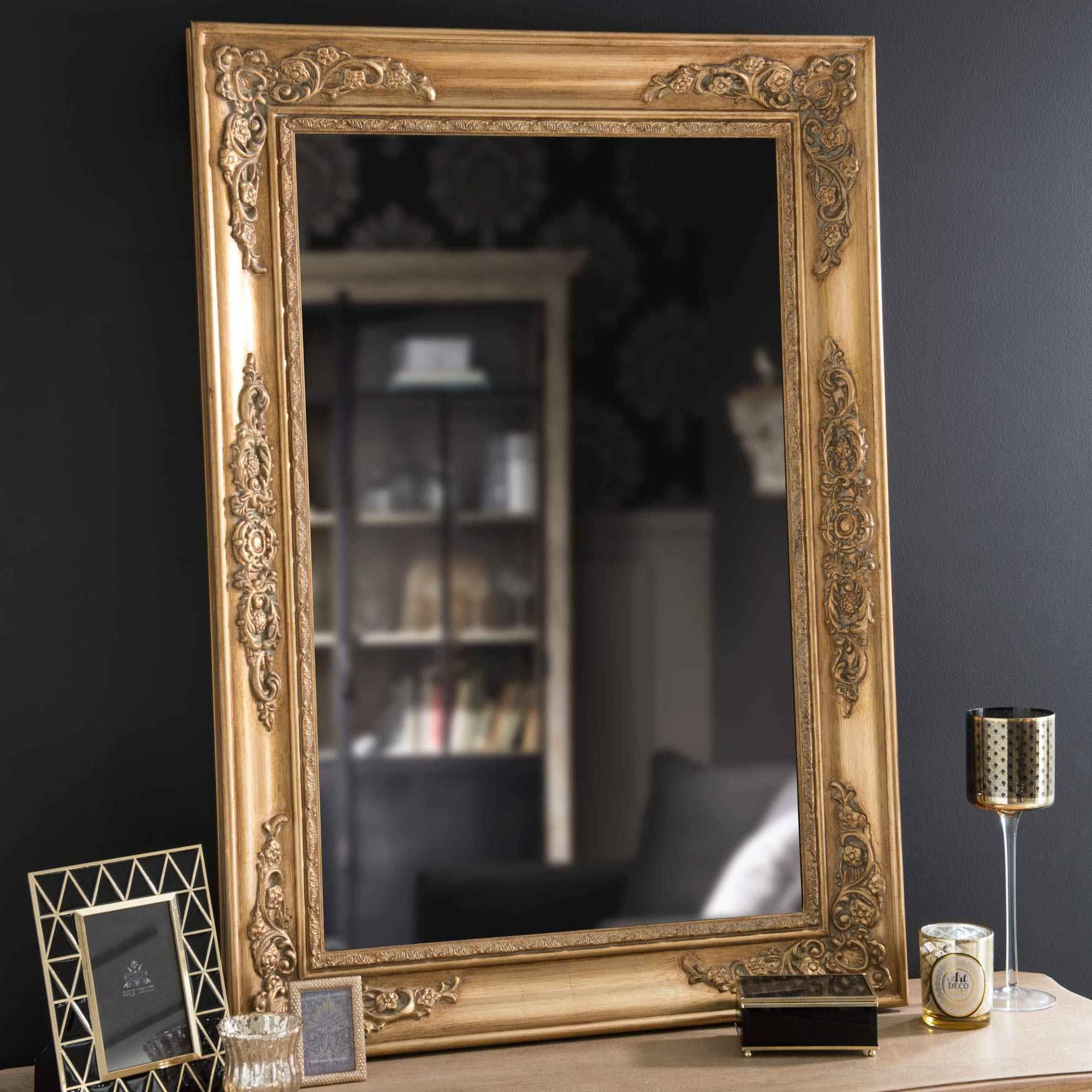 Miroir en bois doré h cm eastport mirrormirror pinterest