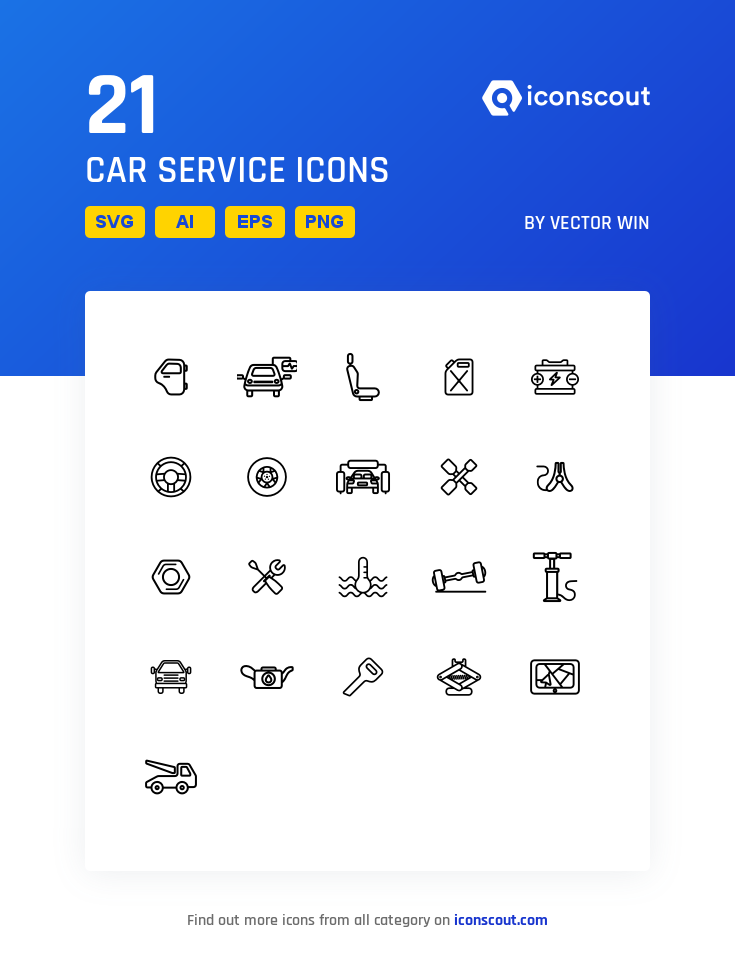 Download Car Service Icon Pack Available In Svg Png Eps Ai Icon Fonts Icon Set Vector Icon Pack Icon