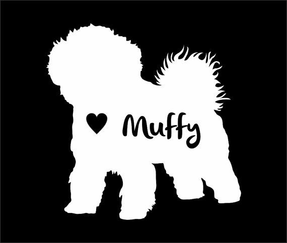 Bishon Frise Dog Vinyl Sticker Decal Car Personalized With Name ...