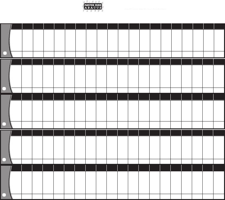 1st Level Practice Sheet | abacus | Abacus math, Worksheets ...