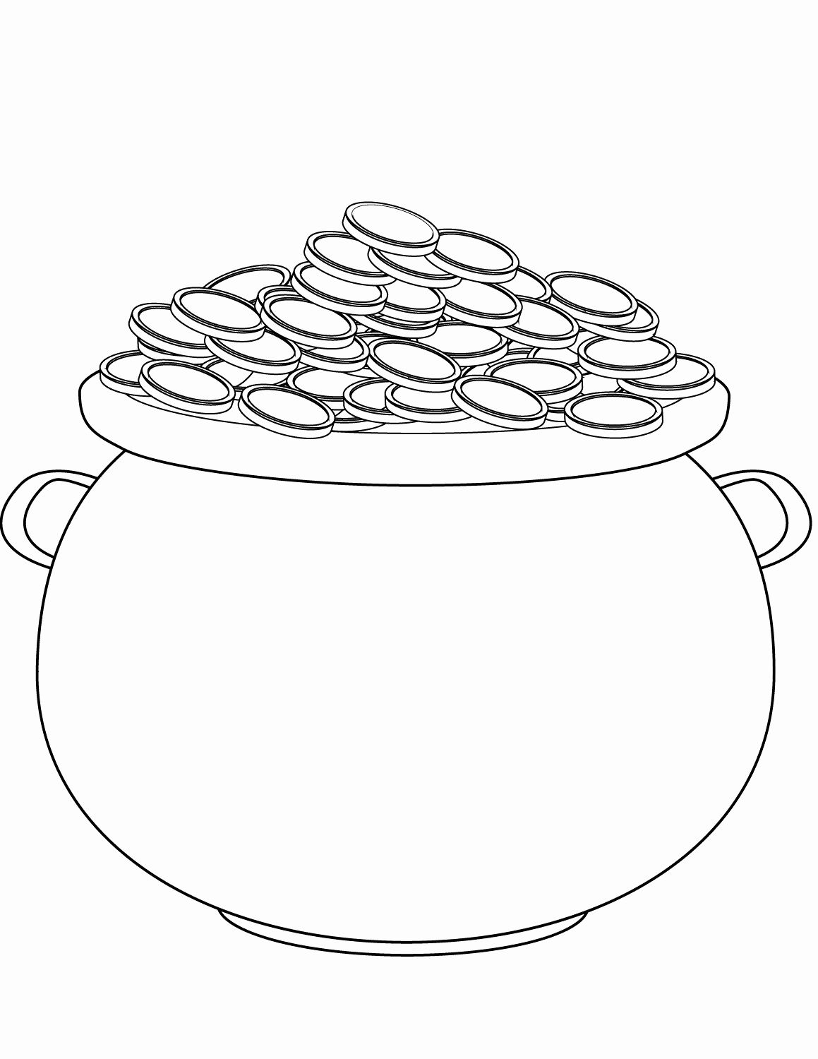 Rainbow Pot Of Gold Coloring Pages For Kids In 2020 Coloring Pages Pot Of Gold Coloring Pages For Kids