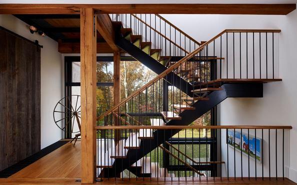 Fotos escaleras para varios niveles con pasamanos de - Fotos de escaleras de madera ...