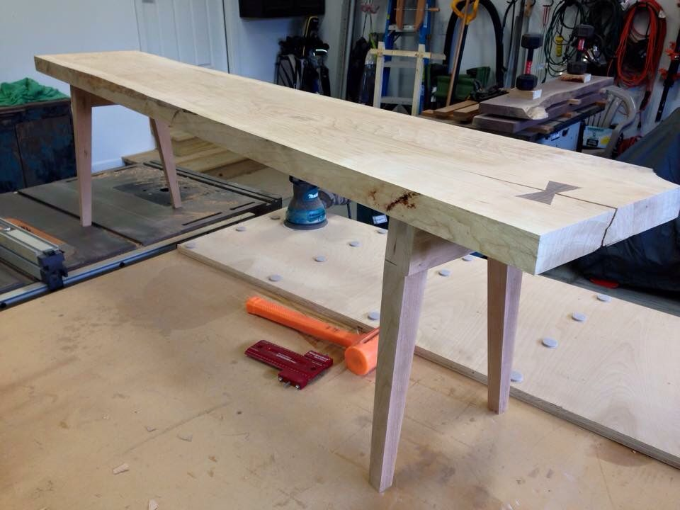 Cavalletto Tavolo ~ Maple trestle table my woodwork tavolo a cavalletto