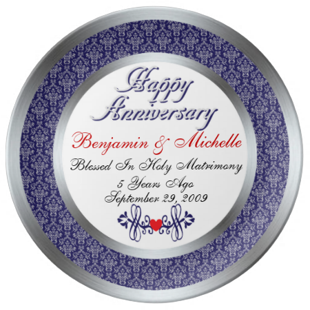 personalized 5th anniversary porcelain plate anniversaries