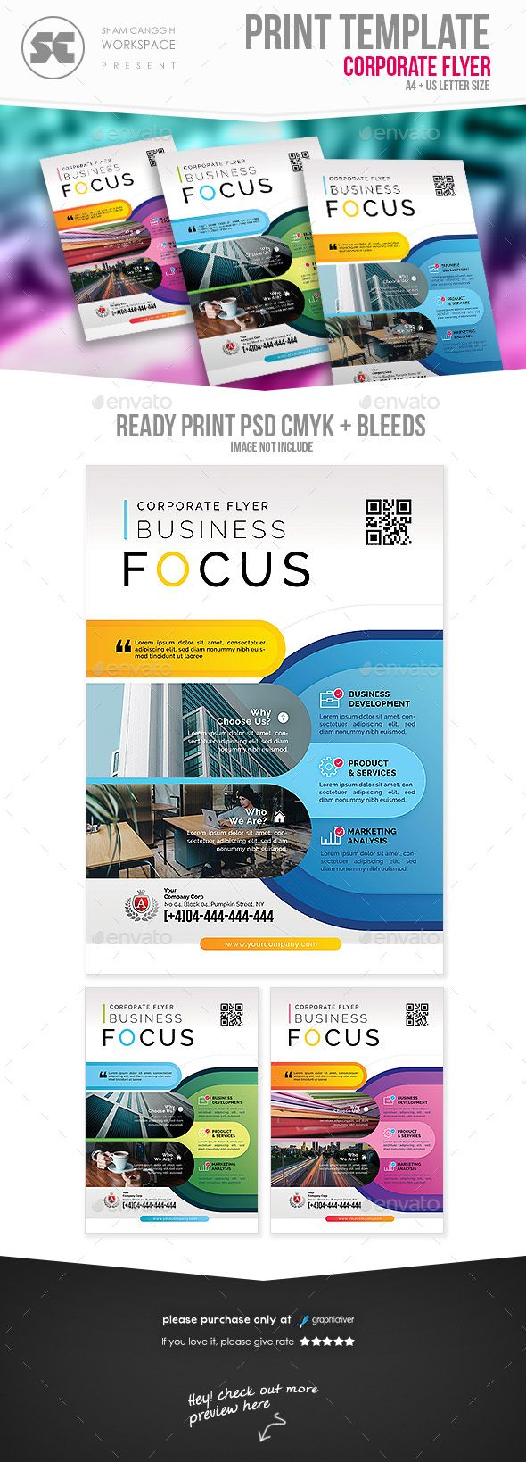 Professional Corporate Flyer  Corporate Business Design Layouts
